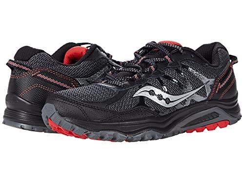 Saucony Men's Grid Escape TR5 Running Shoe, Black/Silver, 9.5