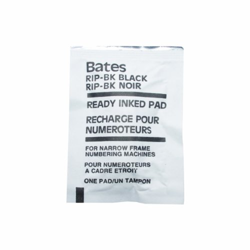 Advantus Bates Ready-Inked Pad for Standard and Dropped Cipher Numbering Machines, Black (9808196) Photo #4