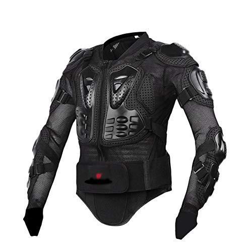 YOUCAI Chaqueta de Moto Ropa Protectora de Cuerpo Armadura Chaqueta Protectora Chaqueta Motocicleta Camisa Protector de Pecho Protección,Negro,3XL