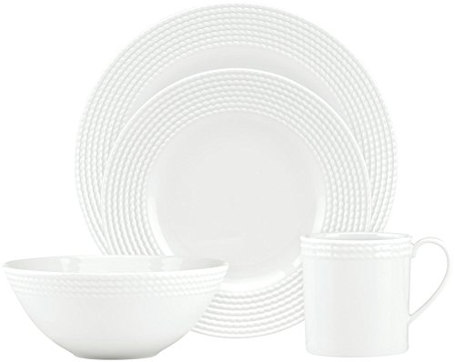 KATE SPADE 818766 Wickford 4-piece Place Setting, 5.4 LB, White