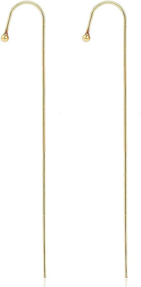 2Pcs Ear Cuffs Wrap Crawler Hook Earrings for Women Girls Gift Gold Piercing Ear Wrap Climbers Earrings Sparkling Rhinestone Earring