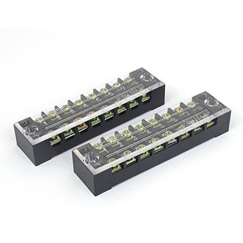 sourcingmap 2uds 600V 15A 8 Posiciones de tornillo de conexión de cable...