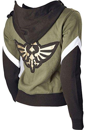 Cosplaysky The Legend Hoodie Jacket Link Sweatshirt Costume X-Large Green