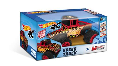 Mondo-63587 Speed Truck vehículo teledirigido, Color Livrea Hot Wheels, 63587