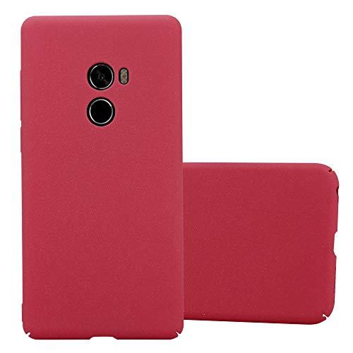 Cadorabo Funda para Xiaomi Mi Mix 2 en Frosty Rojo - Cubierta Protección de Plástico Duro Super Delgada e Inflexible con Antichoque - Case Cover Carcasa Protectora Ligera