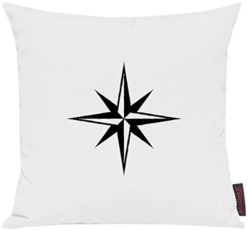 Kissenhülle für Auserwählte! Sofakissen Sailing Nautic Stern Motive Maritim, Farbe weiss