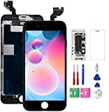 for iPhone 6S Plus Screen Replacement Black with Front Camera,Proximity Sensor,Earpiece, Bsz4uov 3D Touch LCD Display Digitizer for A1687, A1634, A1699, Screen Protector, w/Repair Tools