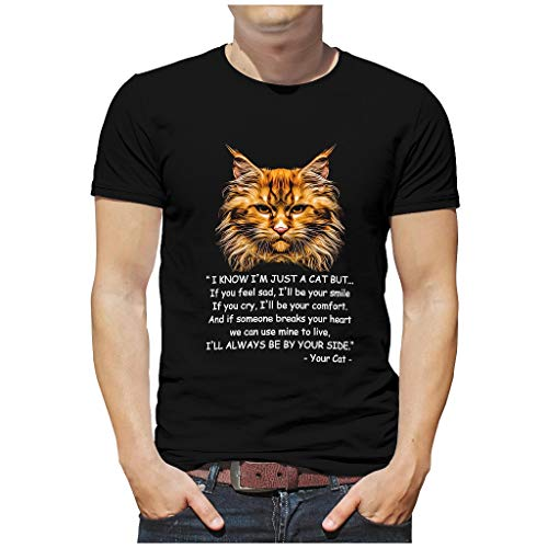 Cat Smile Comfort Männer T-ShirtsSommer-beiläufigeTee Slim Fit T-Shirt MännerT-Stücke Black 5XL