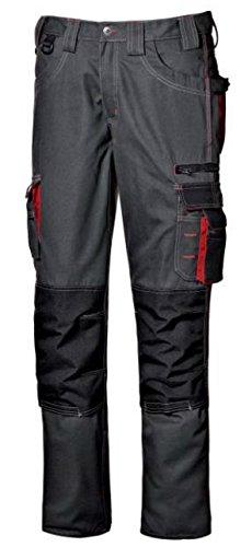Pantalone da lavoro pantalone multitasche lavoro uomo lunghi Harrison colore antracite taglia 48-56 realizzato in poliestere e cotone Broken Twill marca Sir safety sistem (52, Antracite)