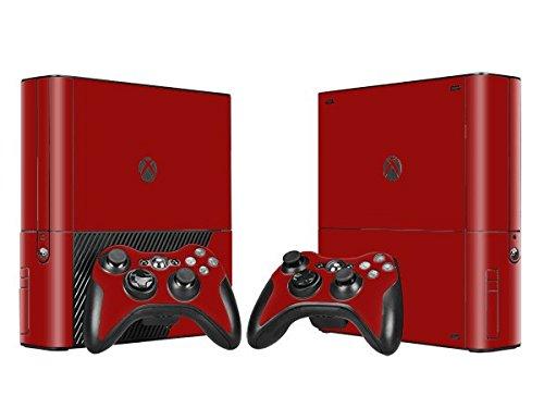 XBOX 360 E Skin Design Foils Aufkleber Schutzfolie Set - Red Motiv