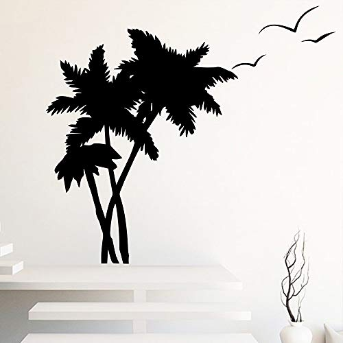 Sanzangtang Kokospalm vogel woonkamer slaapkamer wandsticker afneembare vinyl boom woonkamer wandtattoo decoratie