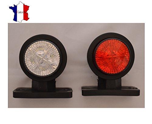 IVATECH 2 X 12V SMD LED Rouge Blanc Feux DE GABARIT ET SIGNALISATION Camion REMORQUE Van