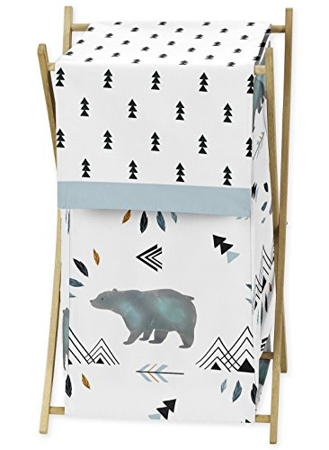 Baby Kid Clothes Laundry Hamper for Bear Mountain Watercolor Collection by Sweet Jojo Designs