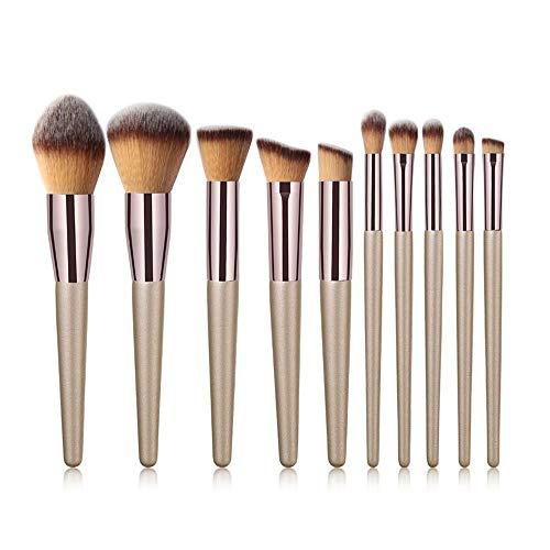 DXIA Make Up Pinsel Sets, 10 Stücke Lidschatten Make Up Pinsel Set, Premium Kosmetik Pinsel professionelle, Make-up Pinsel Werkzeuge, Kosmetik Make-up-Pinsel-Set Champagner Gold