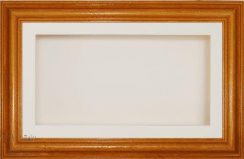Anika 7 x 13/13 x 18 cm-Cadre en bois avec finition Pin miel Passe-Partout crème-dos &Verre 35,5 x 20,3 cm