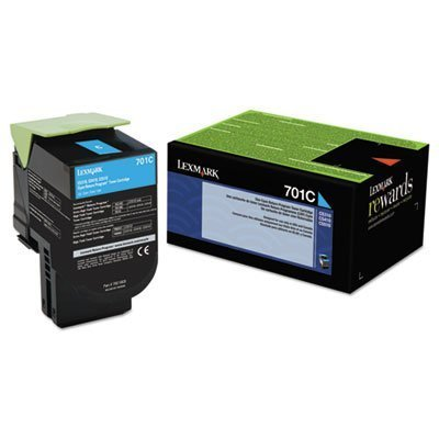 Lexmark 701c Cyan Return Program Toner Cartridge Photo #6