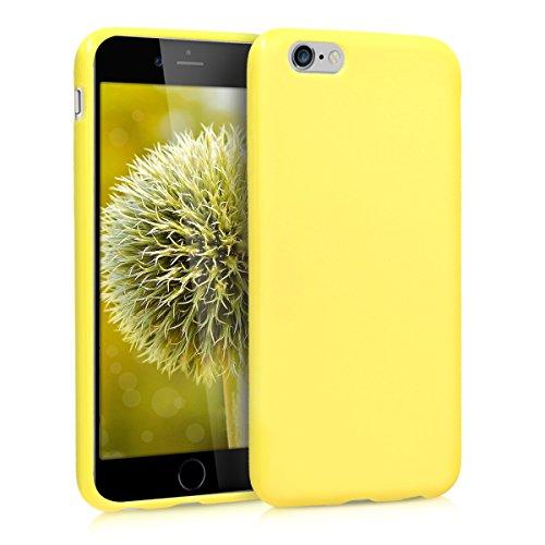 kwmobile Coque Compatible avec Apple iPhone 6 / 6S - Coque Housse Protectrice pour Téléphone en Silicone Jaune Pastel Mat