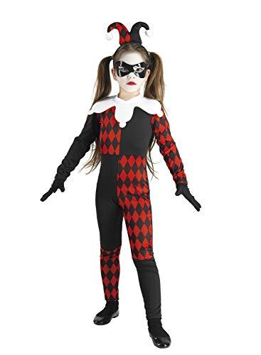 chiber Disfraces Disfraz Arlequín Diabólico para Niña (Talla 10 (8-10 años))