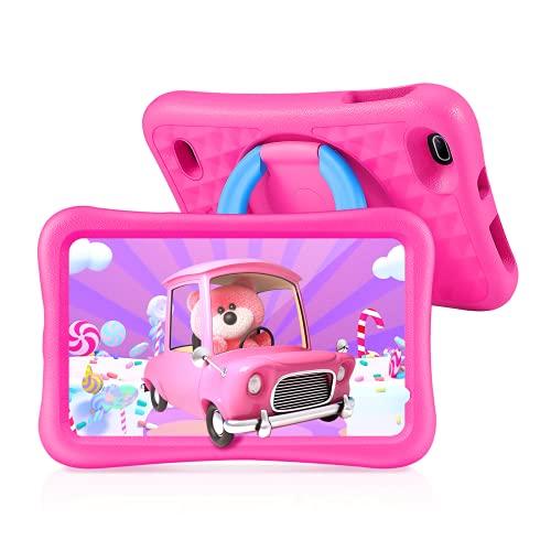 Tablet per bambini da 8 pollici, tablet per bambini per bambini con WiFi, tablet Save Family con processore quad-core, Android 9.0, 2 GB di RAM e 32 GB di ROM (rosa)