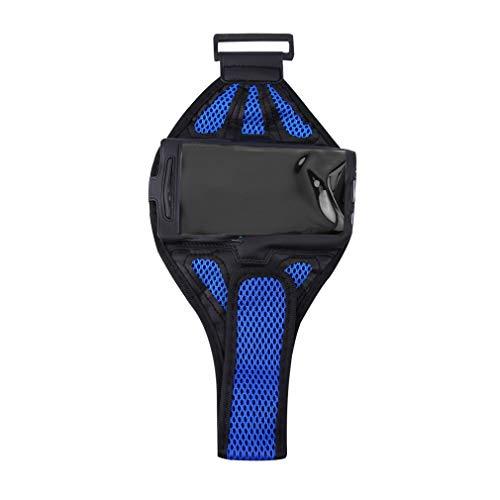GALAXY S4 / S5用ジョギングアームバンドホルダーストラップポーチを実行しているスポーツメッシュジム