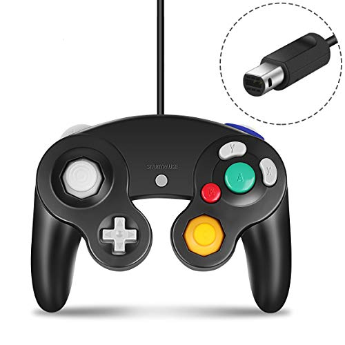 Gamecube Controller Compatible with Nintendo Gamecube and Wii U Classic Wired Controller NGC Gamepad Joystick Black