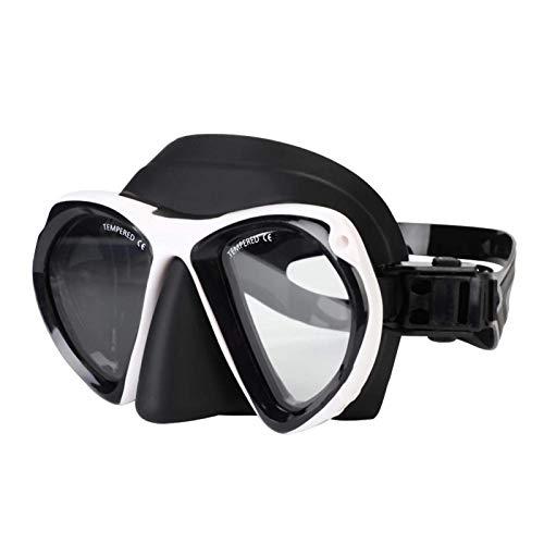 DAUERHAFT Gafas de Buceo Gafas Lente Marco de Silicona Suave Máscara de esnórquel Máscara de esnórquel submarina Gafas de esnórquel de Silicona, para bucear,(White)