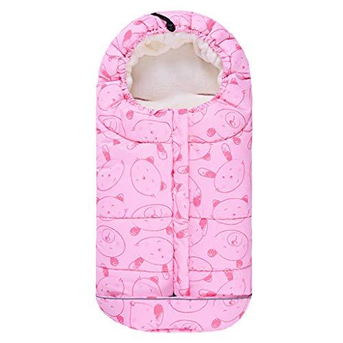 Baby Schlafsack 3 Tog, Kinderwagen Schlafsack Neugeborenen Fußsack 0-6 Monate, Rosa
