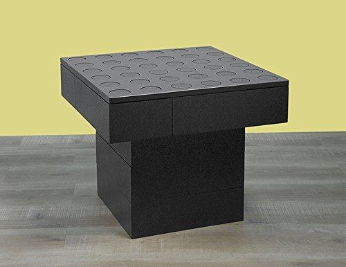BAM - Table basse noire modulable 57x57x48cm