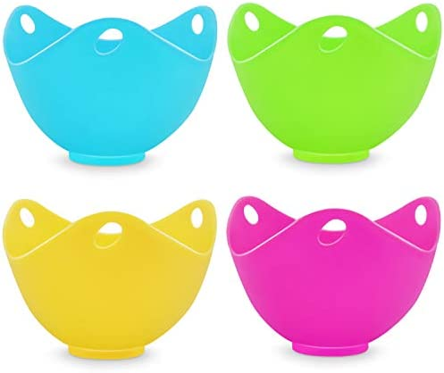 Silicone Egg Poacher Cups Eggs Poaches Without the Stress or Mess Set of 4 Nonstick Pods For product image