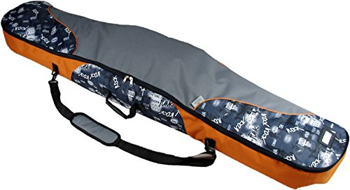 Witan SNOWBOARDTASCHE Snowboard Tasche Boardbag 155 / 165cm PRO LINE (155cm, 15 - Grau Blau Orange)