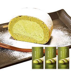 京都 宇治抹茶 × 北海道 産 生クリーム 使用 ふうわり 抹茶 ロール ケーキ 3本セット 北国からの贈り物