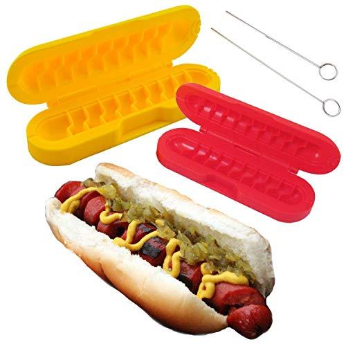 Curl-A-Dog BBQ Spiral Grilling Hot Dog Sausage Slicers