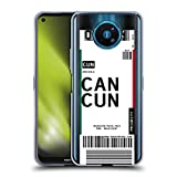 Head Case Designs Cancún, México Etiquetas de Equipaje 3 Carcasa de Gel de Silicona Compatible con Nokia 8.3 5G