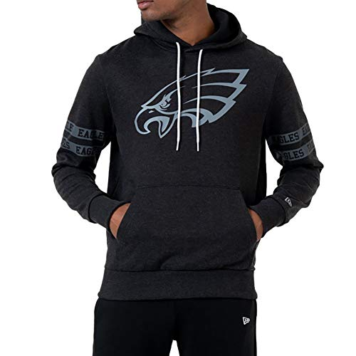 New Era Philadelphia Eagles Hoody NFL Black Tonal Black - L