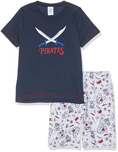 Sanetta Jungen Pyjama Short Zweiteiliger Schlafanzug, Blau (Classic Blue 5968), 104
