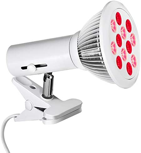 Red Light Therapy Lamp with E26 E27 Holder 36W 12 LED Infrared Light Therapy Device 660nm Red product image