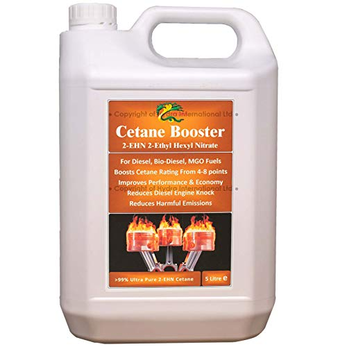 HYDRA Fuel Cetane Booster - Aditivo Mejorador De Cetano Para Combustible Diésel; Aditivo 99 % 2E HN (Nitrato De 2-Etilhexilo); 5 Litros Tratan Hasta 5000 Litros De Combustible