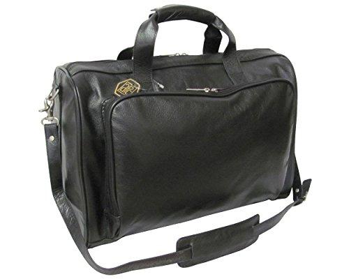 Amerileather Black Leather Two Piece Set Traveler Black/Garment/Leather
