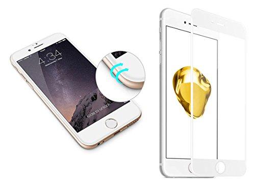 iPhone 7Plus 3d tanque Curved Cristal Blanco 9H duro de vidrio, Full Cover Screen, cristal, cristal de protección, protector de pantalla cristal pantalla, 3d Touch compatible Protector de pantalla Pantalla