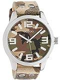 Oozoo Armbanduhr Basic Line mit Lederband 47 MM Camouflage C1066