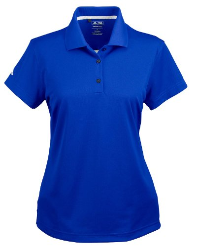 adidas Golf Ladies ClimaLite Pique Short-Sleeve Polo - Collegiate Royal A131 M