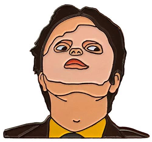 Balanced Co. Dwight Schrute Mask Enamel Pin Rainn Wilson Pin