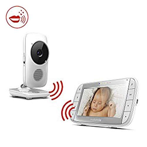 Motorola MBP 48 - Babyphone vidéo avec grand écran 5.0', éco mode, vision nocturne et capteur de...