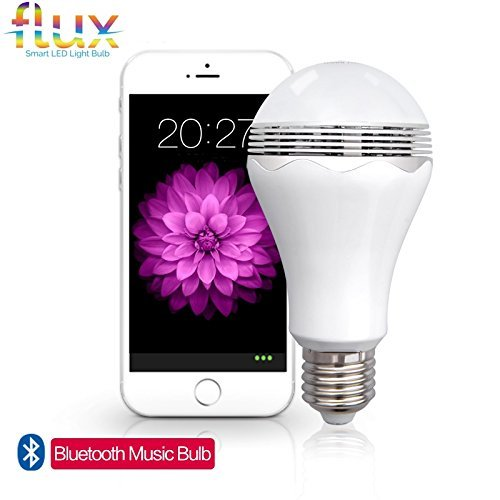 Wireless Smart LED Light Bulb with Bluetooth Speaker by Flux...