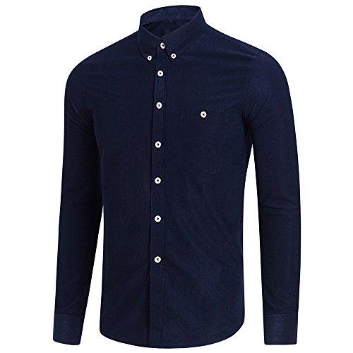 DNOQN Langarm Polo Herren Stylische T Shirts Herren Freizeit Langarm Übergröße Solide Button Shirt Top Bluse 4XL