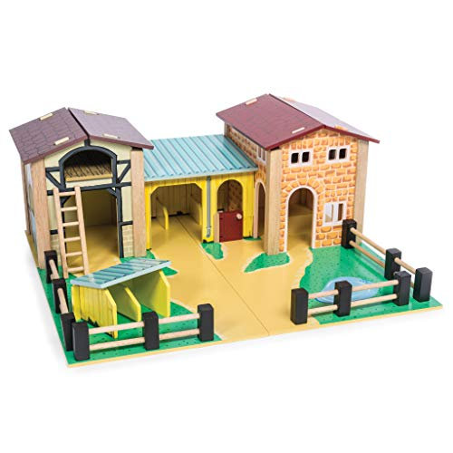 Le Toy Van - Educational Wooden Toy Colourful Wooden Farm Playset | Great...