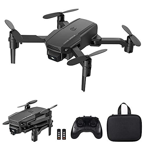 LNHJZ KF611 Mini Drone para niños/Principiantes, cuadricóptero RC Plegable con Volteretas 3D, Modo sin Cabeza, retención de altitud, despegue/Aterrizaje con una tecla, Bolsa de Transporte y 2 bater