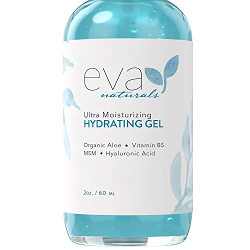 Ultra Moisturizing Hydrating Gel, XL 2 oz. Bottle – Natural Face Moisturizer with Hyaluronic Acid, Aloe Vera, and Plant Stem Cells Hydrates, Smooths, Firms, and Plumps All Skin Types by Eva Naturals