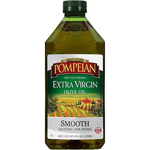 Pompeian Smooth Extra Virgin Olive Oil, First Cold Pressed, Mild and Delicate Flavor, Perfect for...