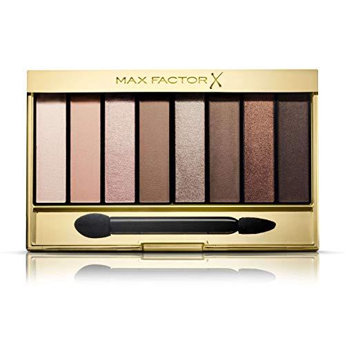Max Factor Nude Eyeshadow Palette, 8 Ombretti Modulabili a Lunga Durata, 01 Cappuccino